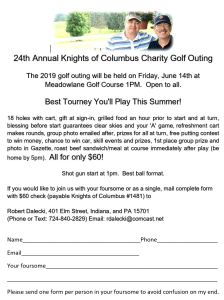 Annual Charity Golf Tournament | Knights of Columbus